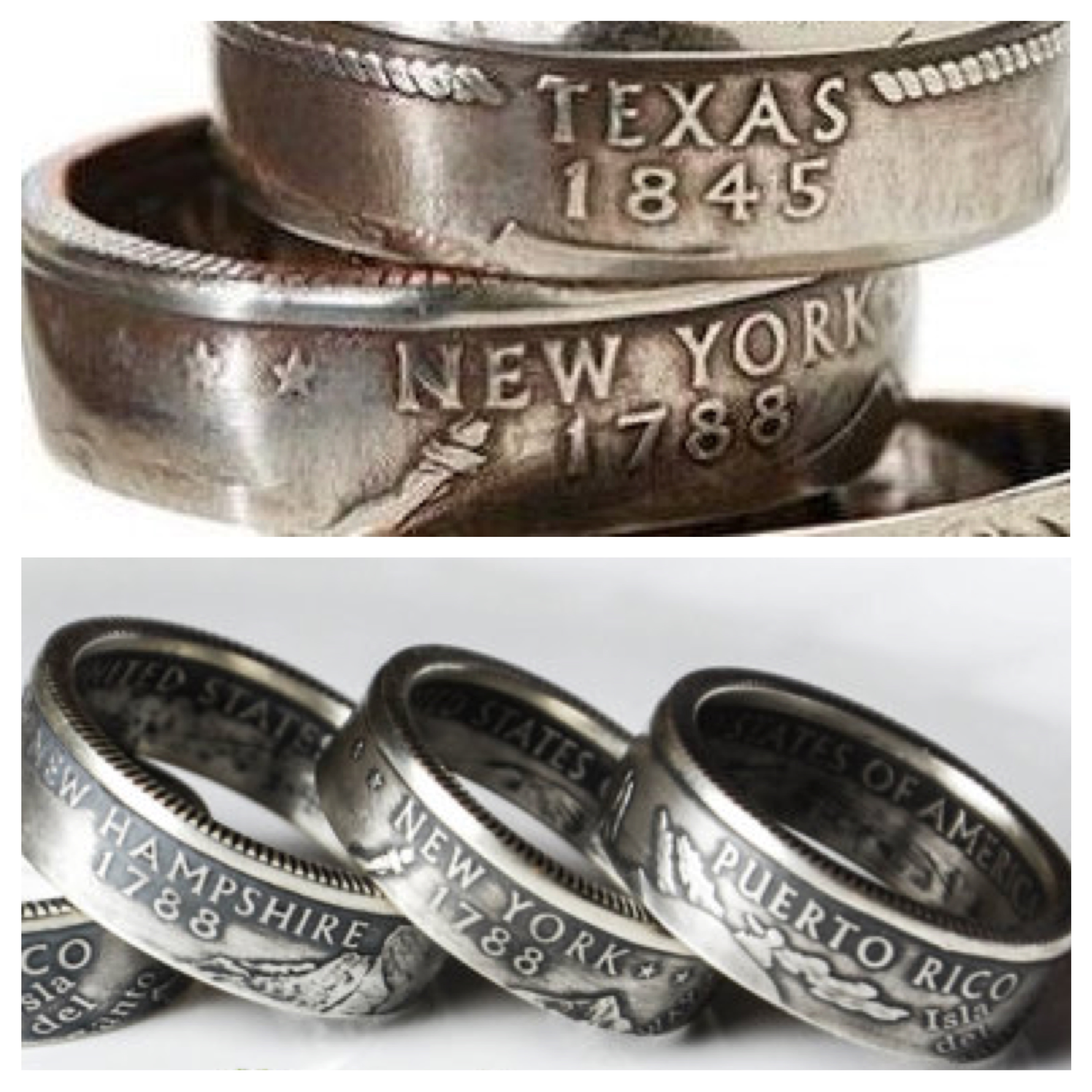 State Quarter Ring (Nickel and Copper) US Shipping Included in Price