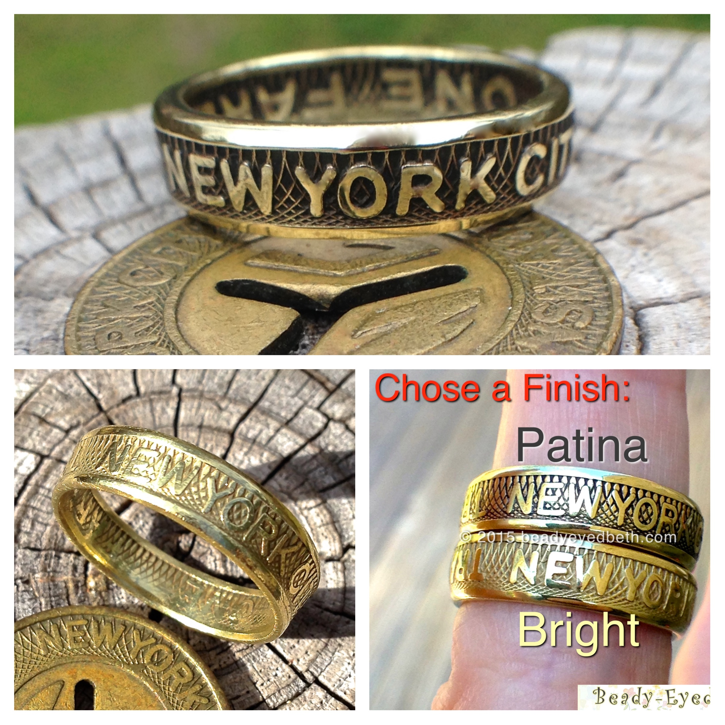New York City Subway Token Ring - US Shipping Included in Price